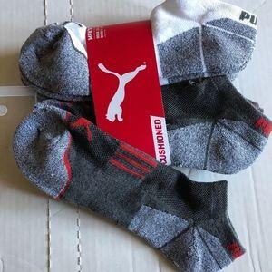 Puma Cushioned Low Cut Ankle Socks 10-13